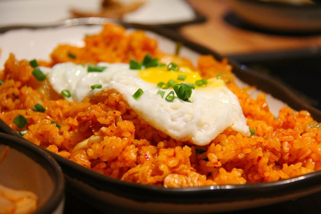 Rice Kimchi Fried Rice Fried Rice Korean Fried Egg