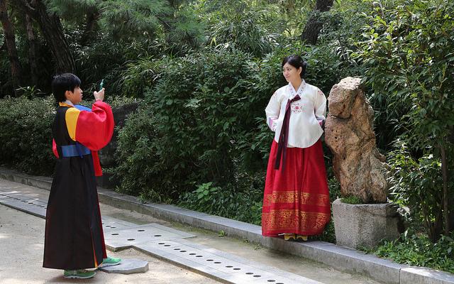 Tourist hanbok