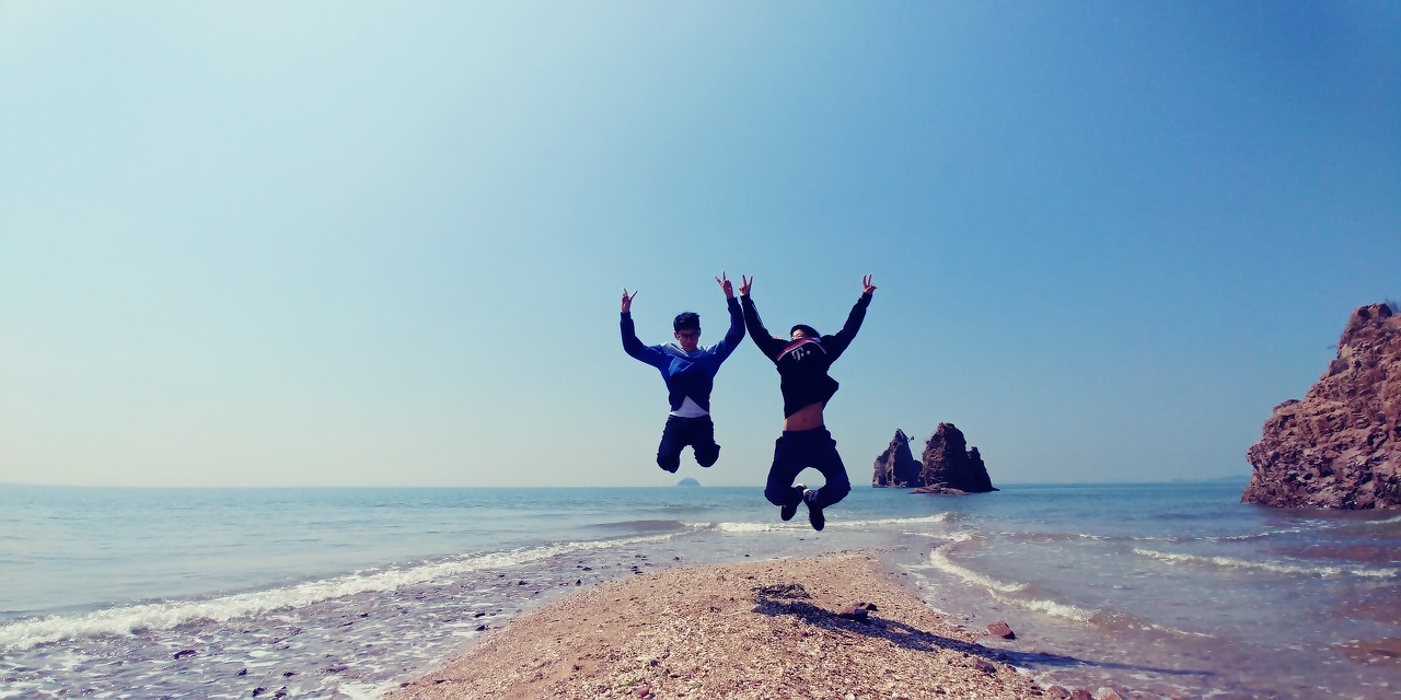 Korean boys having fun